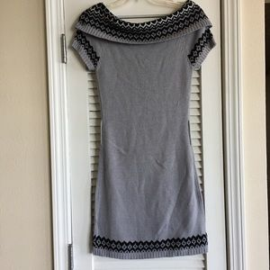 Derek Heart Sweater Knit Off Shoulder Dress SZ S